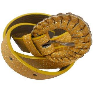 Gci Casual Stylish Women Kawach Belts Exclusive Design Bl-11 Yellow
