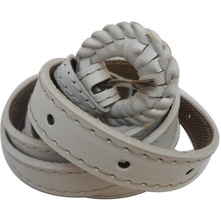 Gci Casual Stylish Women/Ladies Simple Bl-12 White Belts Exclusive Design