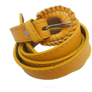 Gci Casual Stylish Women/Ladies Simple Bl-12 Yellow Belts Exclusive Design