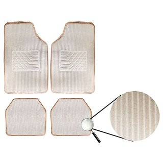 AutoSun-Beige Carpet Car Foot Mat For Maruti Suzuki Zen Estilo
