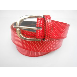 Gci Casual Stylish Women/Ladies Multi Dot Bl-004 Red Belts Exclusive Design