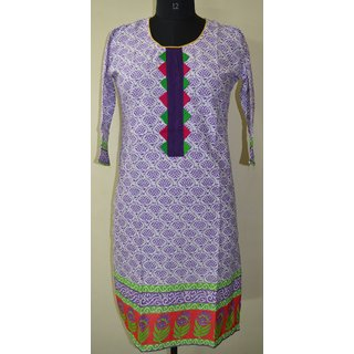 Ethnic-Indian-designer-Cotton-Printed-Kurta-Top-Top Tunic Bust 38 Design KUR18