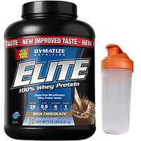 Dymatize Nutrition Elite 100% Whey Protein 5.78 Lbs ( Free Shaker)
