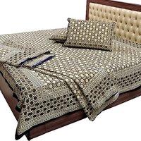 Jaipuri Pure Cotton Double Bedsheet & Duvet Combo