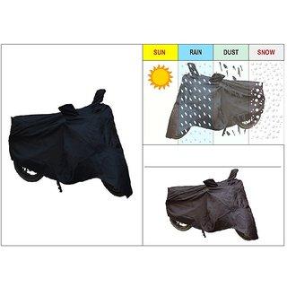 AutoSun-Bike Body Cover With Mirror Pockets (Black) For Hero Splendor Pro