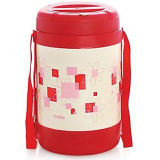 Cello Super Star Insulated Lunch Carrier (4 Container) Red