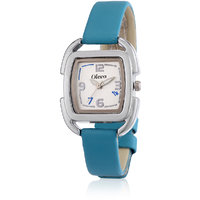Oleva Ladies Leather Watch with Genuine Leather Strap OLW 7BL
