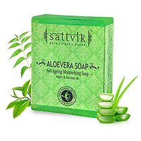 Sattvik Organic Aloe Vera Soap Avs75 (75gm) PACK OF 5