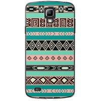 EYP Aztec Black Pink Back Case Cover For Samsung S4 60065