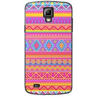 EYP Aztec Pink Yellow Back Case Cover For Samsung S4 60072