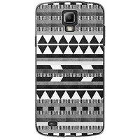EYP Aztec Black White Back Case Cover For Samsung S4 60069