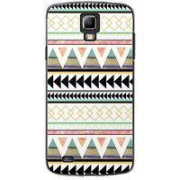 EYP Aztec Black Yellow Back Case Cover For Samsung S4 60067