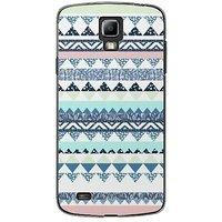 EYP Aztec Blue Green Back Case Cover For Samsung S4 60073