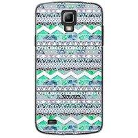 EYP Aztec Green Blue Back Case Cover For Samsung S4 60100