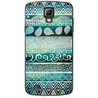 EYP Aztec Brown Black Back Case Cover For Samsung S4 60076
