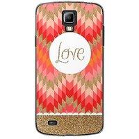 EYP Love Red Beige Back Case Cover For Samsung S4 60096