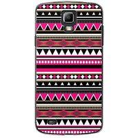 EYP Aztec Pink Black Back Case Cover For Samsung S4 60055