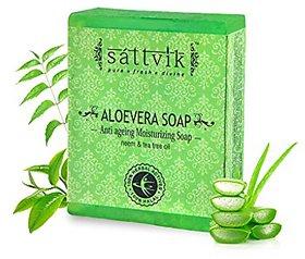 Sattvik Organic Aloe Vera Soap Avs75 (75gm) PACK OF 5