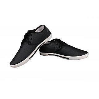 Comfort Cotton Casual Shoes For Men, Black