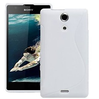 sale retailer 1f8a6 ef1d6 White S Line TPU Gel Back Case Cover For Sony Xperia ZR C5502