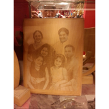 Photo Engraving On Wooden Plank