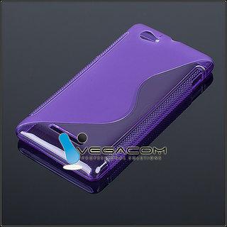 Premium Grade S Line TPU Silicone Back Case Cover Sony Xperia C S39H C2305 PURPL