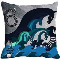 MeSleep Abstract Digital Printed Cushion Cover (16x16)