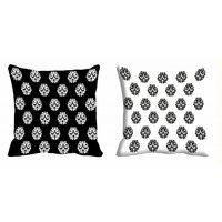 2pc Combo MeSleep Abstract Digitally Printed 16x16 Inch Cushion Covers