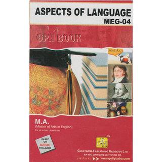 MEG4 Aspects Of Language (IGNOU Help book for MEG-4 in English Medium)
