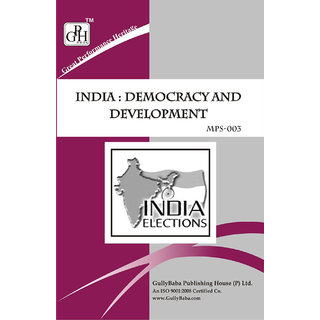 MPS003 India : Democracy And Development (IGNOU Help book for MPS-003 in English Medium)