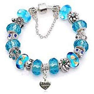Beaded Bracelets Blue