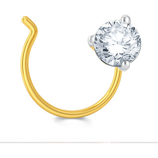 Pure Gold Jewellers 18kt Yellow Gold Nosepin With 1pcs Of 0 09cts