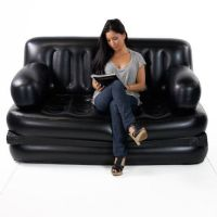 5 In 1 Inflatable Sofa Air Bed Couch With Free Electric Pump