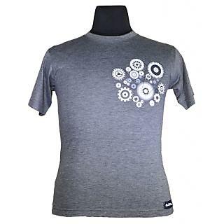 Moksa Men's Grey Round Neck T-Shirt