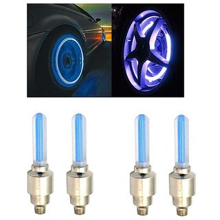 AutoSun-Car Tyre LED Light with Motion Sensor - Blue Color ( Set of 4) Maruti  Suzuki Gypsy King