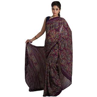82a55f936bbce Aanaya Stores Multicolor Banarasi Silk Self Design Saree With Blouse