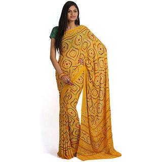 Aanaya Stores Multicolor Banarasi Silk Self Design Saree With Blouse