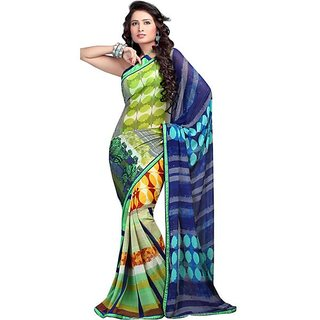 Firstloot Amusing Colorful Printed Faux Georgette Saree