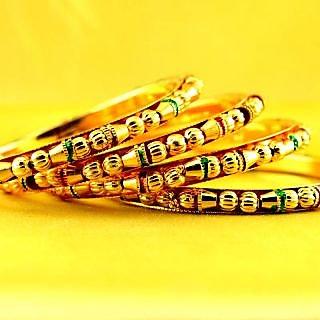 Gold Platted Rajasthani Gokharoo size-2.6