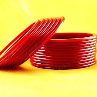 acrylic bangles colour red size-2.4,2.6,2.8,2.10