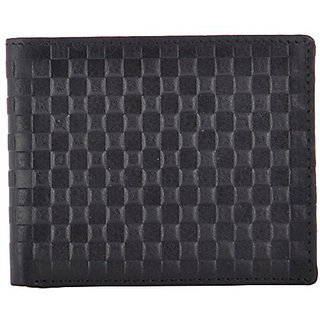Walletsnbags Check Mate Gents Wallet - Black