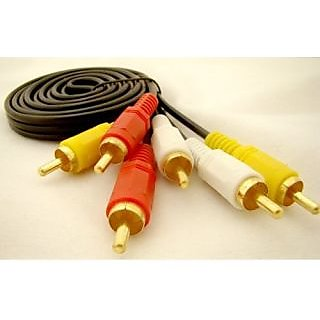 RCA To RCA Cable 3XRCA Male to 3X RCA Male Cable 3RCA to 3RCA Gold plated 3 Feet