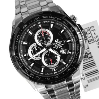 CASIO EDIFICE EF 539D-1AVD BLACK DIAL CHRONOGRAPH STYLISH MENS WRIST WATCH GIFT