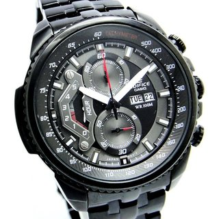 CASIO EDIFICE EF 558 BK BLACK PREMIUM CHRONOGRAPH MENS DAY DATE WRIST WATCH GIFT - 6402576