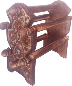 Wooden Bangle Stand Antique 4 Rod