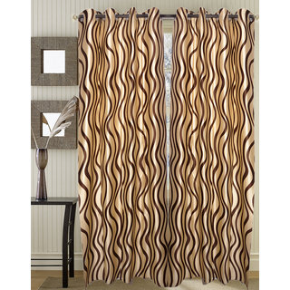Door Curtain (4x7 feet) l cofee leher