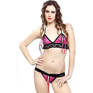 9eb5520838 Womens Sexy Bikini Set 2pc Bra   Panty Set Bed   Fun   Gift   Night ...