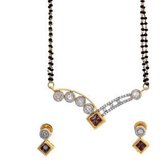 BeYou Diamond-Kundan Style Mangalsutra Set with Chain