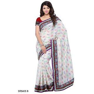 First Loot White Color Art Silk Saree - Divdfs415B