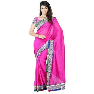 First Loot Pink Color Art Silk Saree - Divdfs431B
